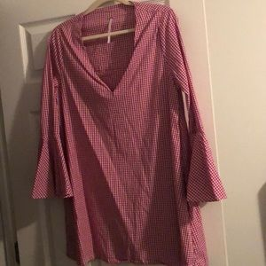 Free people mini dress! Bell sleeves. SO comfy.